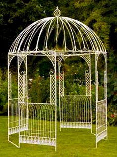 unbirthday 1500 Distressed Wrought Iron Gazebo - custom sizes, styles available