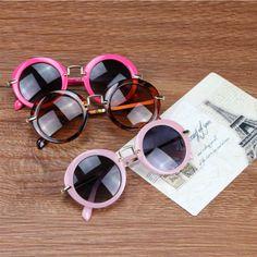 Kottdo ronda moda lindo diseñador de la marca de los niños anti-ultravioleta bebé gafas vintage chica cool gafas niños gafas