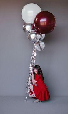 "36"" Balloon : Burgundy drop it MODERN ©Breanne Schaap:"