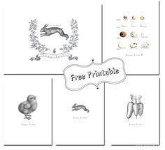Vintage Easter Printables | Funkytime