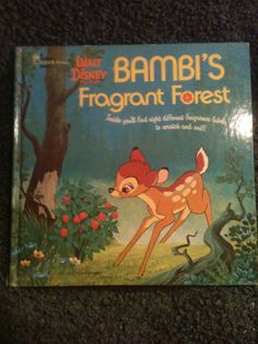 Bambi's Fragrant Forest book 1975  Scratch and Sniff.  Buy this collecgtors item at: http://kidsofkamington.etsy.com , $45.00