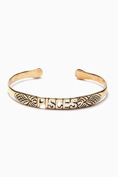 Zodiac Bracelet By Jen's Pirate Booty / Nasty Gal not a Pisces but whatevs Pisces Love, Zodiac Signs Pisces, Pisces Woman, My Zodiac Sign, Scorpio, Fashion Accessories, Fashion Jewelry, Jewelry Box, Jewlery