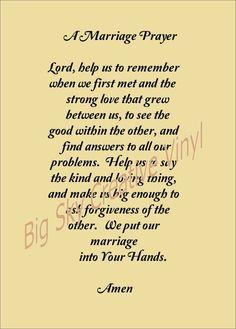 A Marriage Prayer - .