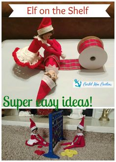 Coastal Mom Creations: Super Easy Elf on the Shelf Ideas for those of us who jus. Coastal Mom Creations: Super Easy Elf on the Shelf Ideas for those of us who just need to keep it simple! on the shelf ideas Christmas Elf, All Things Christmas, Christmas Crafts, Christmas Turkey, Christmas Activities, Christmas Traditions, Awesome Elf On The Shelf Ideas, Elf Ideas Easy, Elf On Shelf Funny