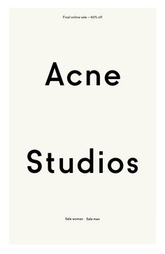 acne studios. Black Bedroom Furniture Sets. Home Design Ideas