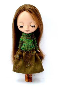 Simple Pleasures set for Blythe Doll pattern by Jane Pierrepont