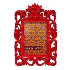 Porta Retrato Luiz XVI - Vermelho | Boutique de Luxo @ BoutiqueDeLuxo