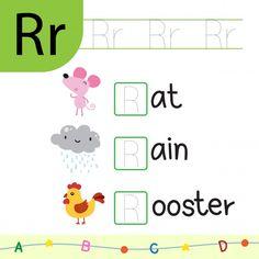 Alphabet For Kids, Alphabet Activities, Preschool Alphabet, English Phonics, English Vocabulary Words, English Grammar, Animal Worksheets, Reading Worksheets, Alphabet Worksheets