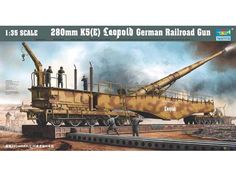 "Trumpeter 280mm K5 (E) Leopold German Railroad Gun | The largest weapon which lobbed shells at American troops at ""Anzio Beach"". The gun was known as ""Anzio Annie"" to the Allied troops and is the only German railroad gun known to have survived World War II."