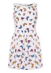 Iska Butterfly Print Pleat Dress on shopstyle.co.uk