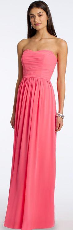 Strapless Draped Bodice Floor-Length Dress #camillelavie