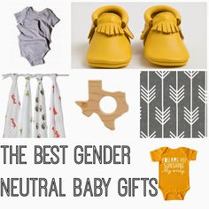 Great list of Gender Neutral Baby Gift Ideas.