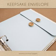 Keepsake Envelope  Baby Blue   Include in your Two by 2giggles