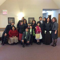 La familia Castro/Espinosa visitando en Rice Lake WI