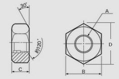 Starlet's CAD Drawing Exercise Blog: Dimensions of Heavy Hex Nuts
