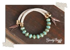 DIY Mint and Cream Wrap Bracelet Tutorial on the GoodyBeads.com Blog. Instructions on how to insert the memory wire and finish the ends of the bracelet.