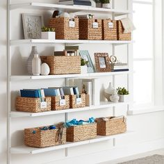 Beautifully constructed, our Water Hyacinth Bins offer an attractive option for storage of a variety of items around your home. Choose from several functional sizes of this popular woven basket. Pantry Door Storage, Kitchen Organization Pantry, Linen Closet Organization, Shop Storage, Cube Storage, Small Storage, Storage Baskets, Pantry Baskets, Pantry Closet