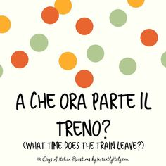 31/100 - 100 Days of Italian Questions on Instagram