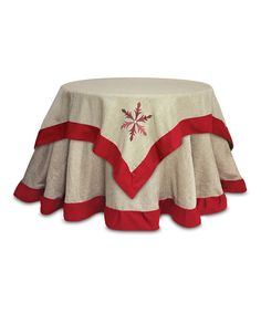 Take a look at this Burlap Snowflake Table Topper on zulily today!
