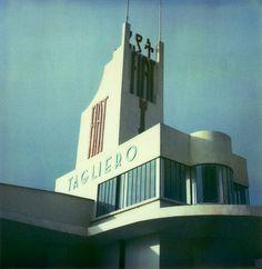 Fiat Tagliero Building in Asmara; by Giuseppe Pettazzi, 1938. more eritrea architecture here: http://www.traveladventures.org/continents/africa/asmaraarchitecture01.shtml