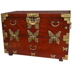 A pretty butterfly chest