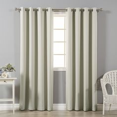Best Home Fashion Solid Shiny Back Room Darkening Grommet Curtains
