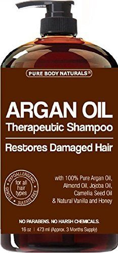 Argan Oil Shampoo Restores Hair - Argan Oil for Hair, Increases Shine and Deeply Nourishes - Safe for All Hair Types and Color Treated Hair - 16 oz Bottle with Pump ** See this awesome image : Hair Shampoo Pure Argan Oil, Argan Oil Hair, Hair Shampoo, Hair Oil, Shampoo Alternative, Hair Design For Wedding, Simple Prom Hair, Easy Hair, Wedding Hair Clips