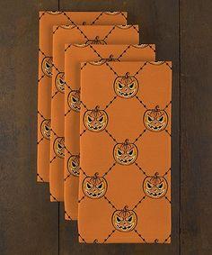 35fa8b3eb7b Love this Pumpkin Pin-Tuck Napkin - Set of Six on  zulily!