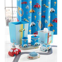 @Overstock - This Race Car Bath Accessory Collection is composed of a bathroom-friendly resin material and features an adorable race car theme. The items in the set are to be purchased individually for bathroom customization.http://www.overstock.com/Bedding-Bath/Race-Car-Bath-Accessory-Collection/7832002/product.html?CID=214117 $15.99