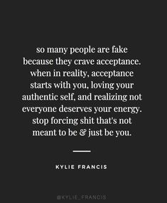 so many people are fake because they crave acceptance. when in reality, acceptance starts with you, loving your authentic self, and realizing not everyone deserves your energy. stop forcing thats not meant to be and just be you Fake Happiness Quotes, Quotes To Live By Wise, Happy Quotes, Best Quotes, Not Meant To Be Quotes, Wisdom Quotes, All About Me Quotes, Quotes Quotes, Music Quotes