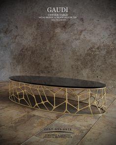 Gaudi Center table - Pont des Arts Studio - Designer Monzer Hammoud - Paris-