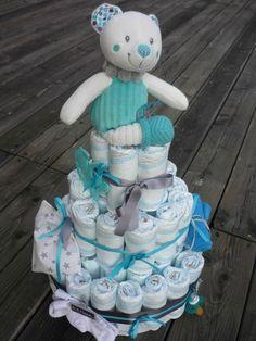 Gâteau de couches....ou encore une idée loufoque !! - Sitôt Dit, Sido Fait