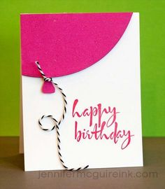 30 Handmade Birthday Card Ideas DIY Birthday Cards - Quick Balloon Birthday Card - Easy and Cheap Handmade Birthday Cards To Make At Home - Cute Card Projects With Step by Step Tutorials are Per Homemade Birthday Cards, Girl Birthday Cards, Bday Cards, Homemade Cards, Cake Birthday, Simple Birthday Cards, Birthday Gifts, Birthday Images, Birthday Greetings