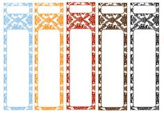 Wrap around labels, in seven different colours