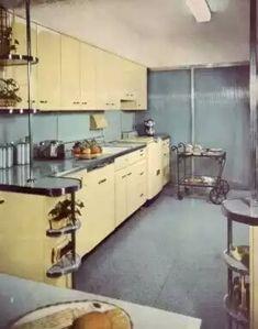 Black Kitchens Retro Cool Dream 1950s Kitchen