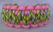 Paracord Bracelet Zombie Skater Inspired Pink & Infection King Cobra