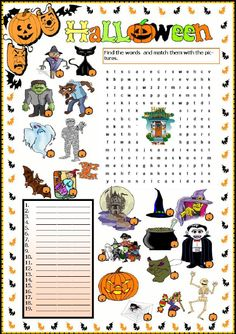 how many words in halloween shake your english 011011 - Words About Halloween