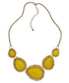 yellow and gold necklace from max and chloe $29