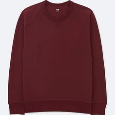 MEN LONG-SLEEVE SWEATSHIRT, WINE, large