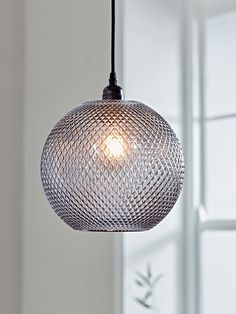NEW Grey Textured Round Pendant - Ceiling Lights - Lighting Glass Pendant Light, Ceiling Pendant, Round Pendant, Pendant Lighting, Industrial Lighting, Modern Lighting, Lounge Lighting, Hall Lighting, Accent Lighting