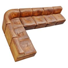 For Sale on - Very nice quality modular sofa designed and made by De Sede, Switzerland, This modular sofa is model and was made of very thick natural buffalo Vintage Sofa, Vintage Leather, Neck Roll Pillow, French Sofa, Buy Sofa, Bolster Cushions, Modern Sofa, Modern Chairs, Modular Sofa