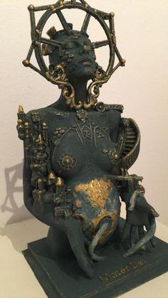 Mater Dei Miniatur Selling Art Online, Online Art, Clay Sculptures, Sculpture Art, Mannequin Art, Esoteric Art, Found Object Art, Assemblages, Visionary Art