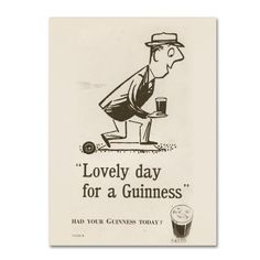 Trademark Fine Art Lovely Day For A Guinness II Canvas Art by Guinness Brewery, Size: 14 x 19, Multicolor