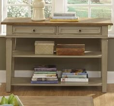 Console Tables With Drawers And Shelf