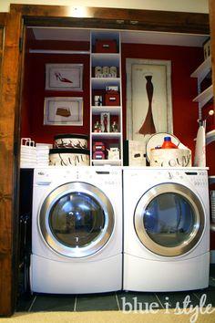 DIY Laundry Shelving and Countertop