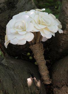 Rustic Rose Paper Flower Bouquet Medium  by EverBloomsFlowers, $50.00
