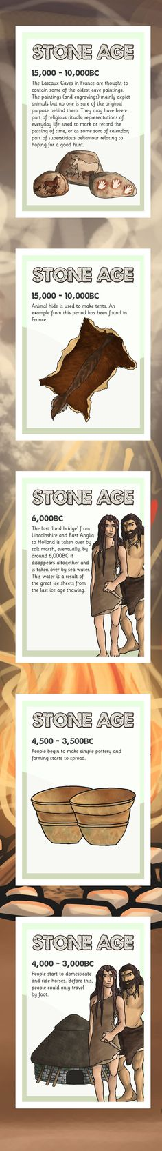 Could have done with this last term!!!....KS2 History Timelines- Stone Age Timeline Posters
