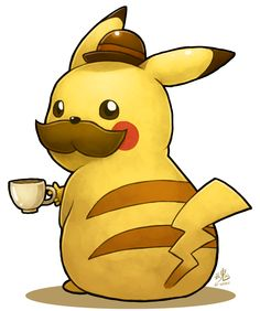 #Pikachu Gentleman via Reddit user  moonisbulky