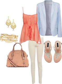 """Love the blazer"" by abbykwright on Polyvore"