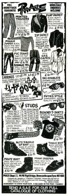 80's goth catalog - look at the prices!